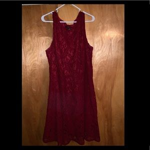 Red lace dress WORN ONCE!